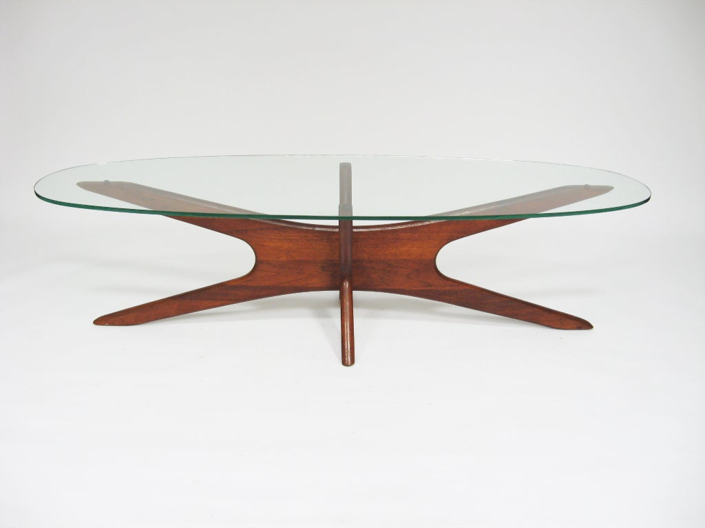 Amazing Adrian Pearsall Coffee Table With Elliptical Top By Craft Assoc. 3