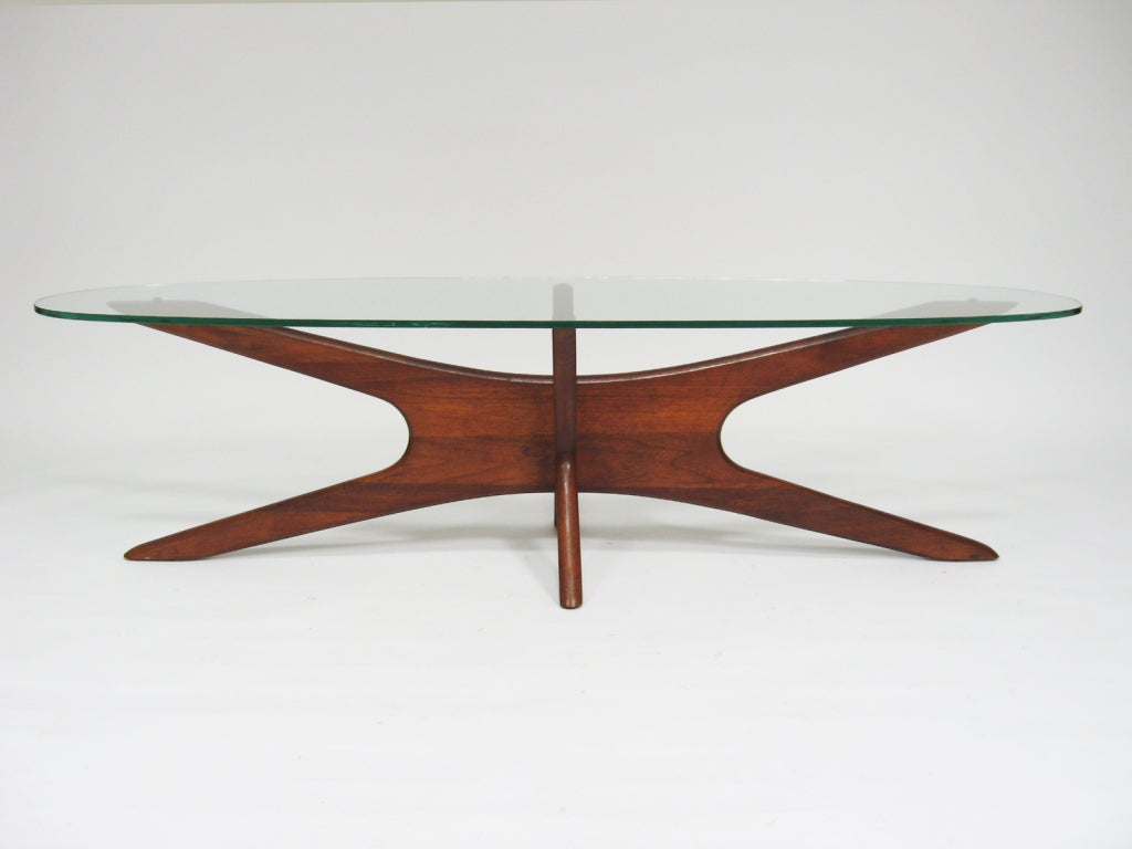 Adrian Pearsall Coffee Table With Elliptical Top By Craft Assoc For