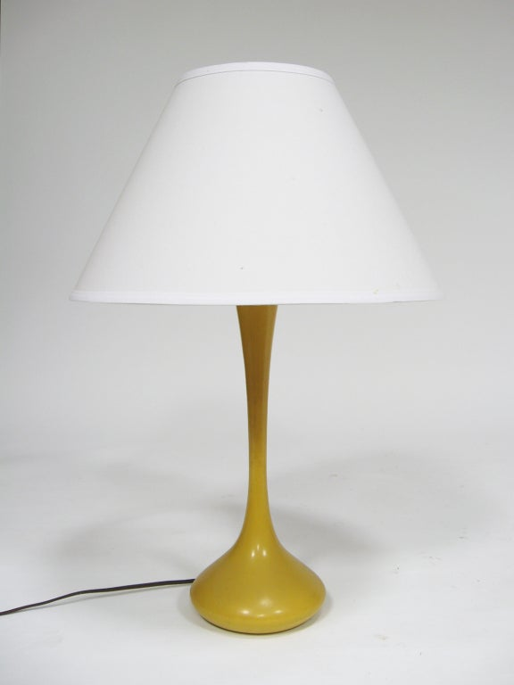 laurel table lamp with mustard yellow base for sale at 1stdibs. Black Bedroom Furniture Sets. Home Design Ideas