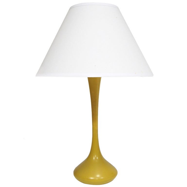 Laurel Table Lamp With Mustard Yellow Base For Sale At 1stdibs