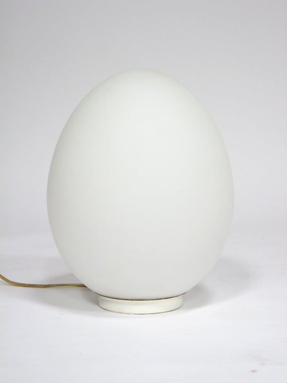 Laurel egg table lamp at 1stdibs stripped down to a bare form this lamp by laurel co is a frosted aloadofball Gallery