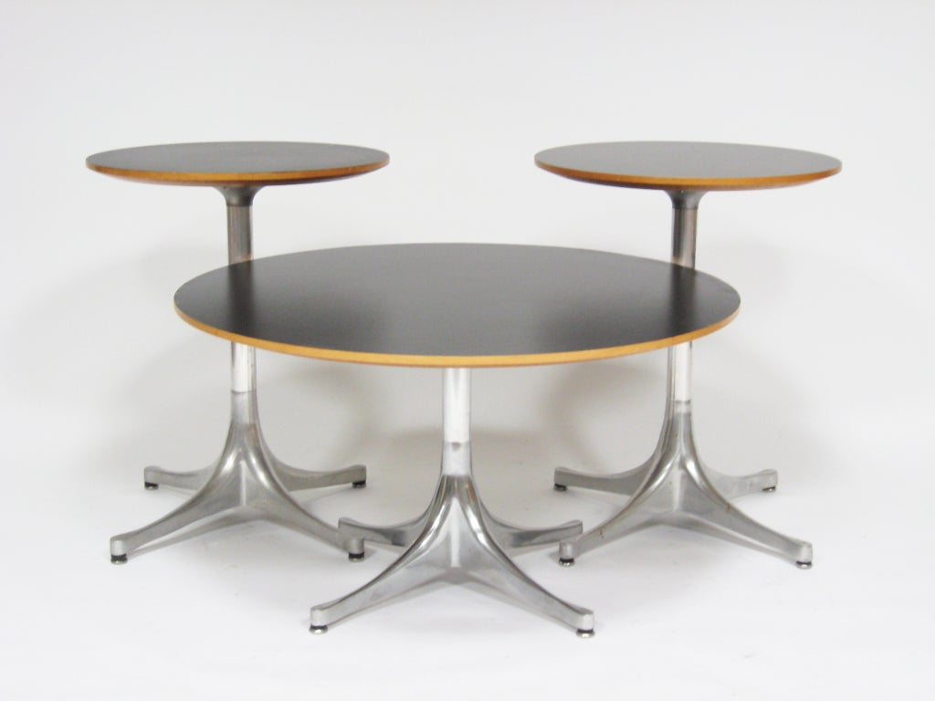 Lovely George Nelson Pedestal Tables By Herman Miller 2