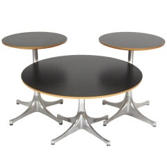 George Nelson Pedestal Tables By Herman Miller
