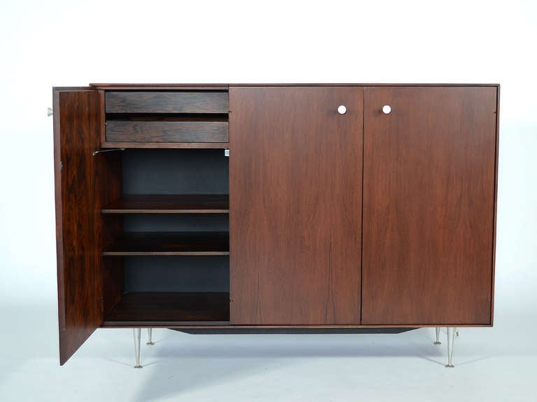 George Nelson Rosewood Thin Edge Credenza Cabinet At 1stdibs