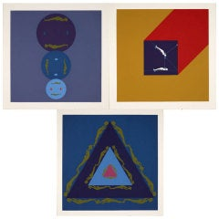 "Three prints by Ernest Trova from the ""Manscape"" series"