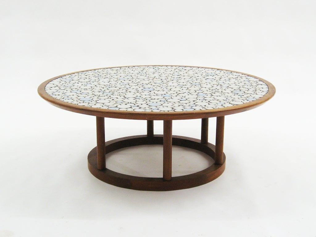 Tile top coffee table by gordon and jane martz at 1stdibs for Tile top coffee table