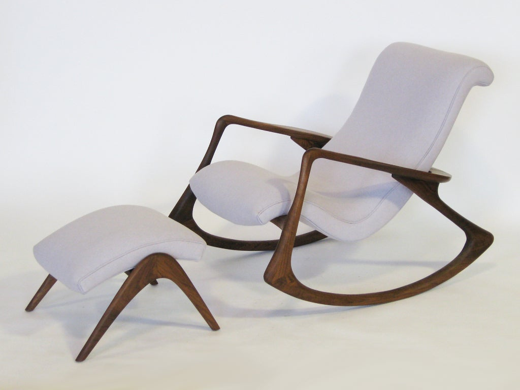 Very Impressive portraiture of Contour rocking chair and ottoman by Vladimir Kagan at 1stdibs with #624332 color and 1024x768 pixels