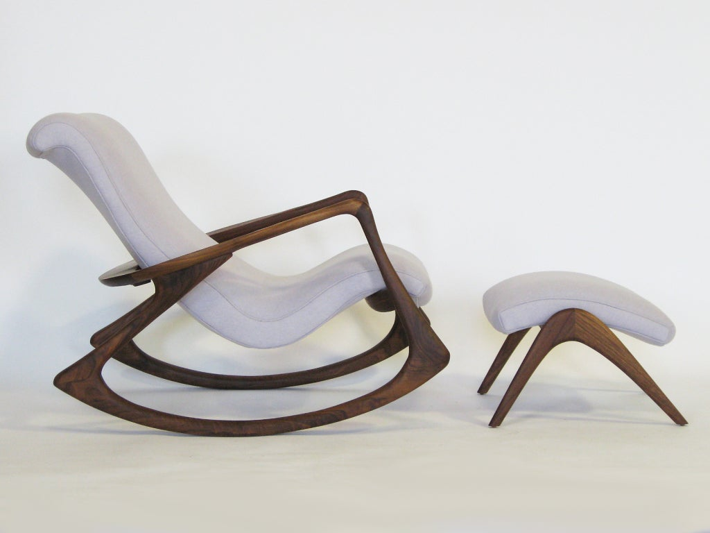 Contour Rocking Chair And Ottoman By Vladimir Kagan At 1stdibs