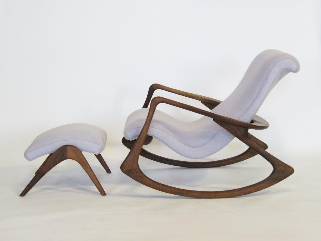 Contour rocking chair and ottoman by Vladimir Kagan 1