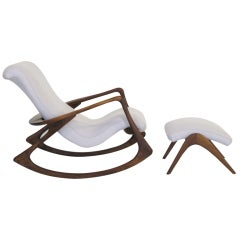Contour rocking chair and ottoman by Vladimir Kagan