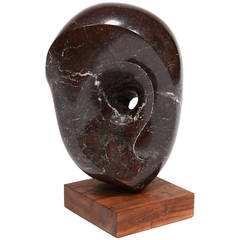 Abstract Marble Sculpture in the Manner of Barbara Hepworth
