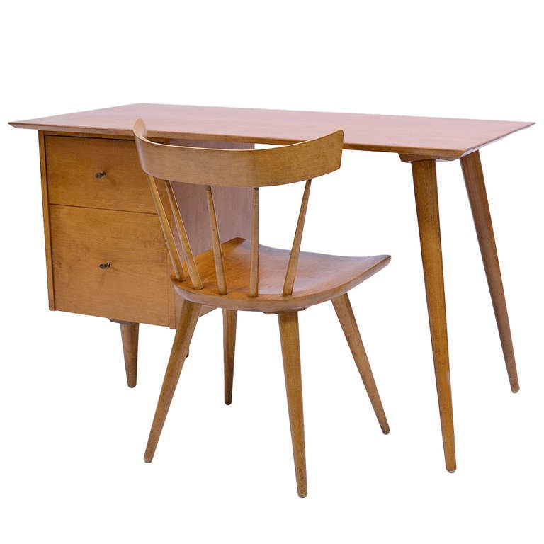 Paul Mccobb Planner Group Desk And Chair at 1stdibs