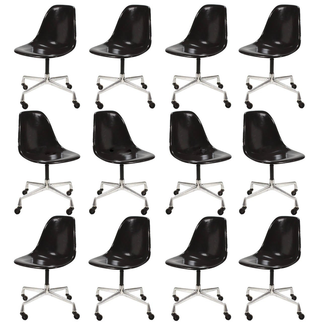 About A Chair 12 Side Chair.Eames Psc Fiberglass Side Chairs By Herman Miller Set Of 12 Or More