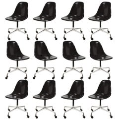 Eames PSC Fiberglass Side Chairs by Herman Miller, Set of 12 or More