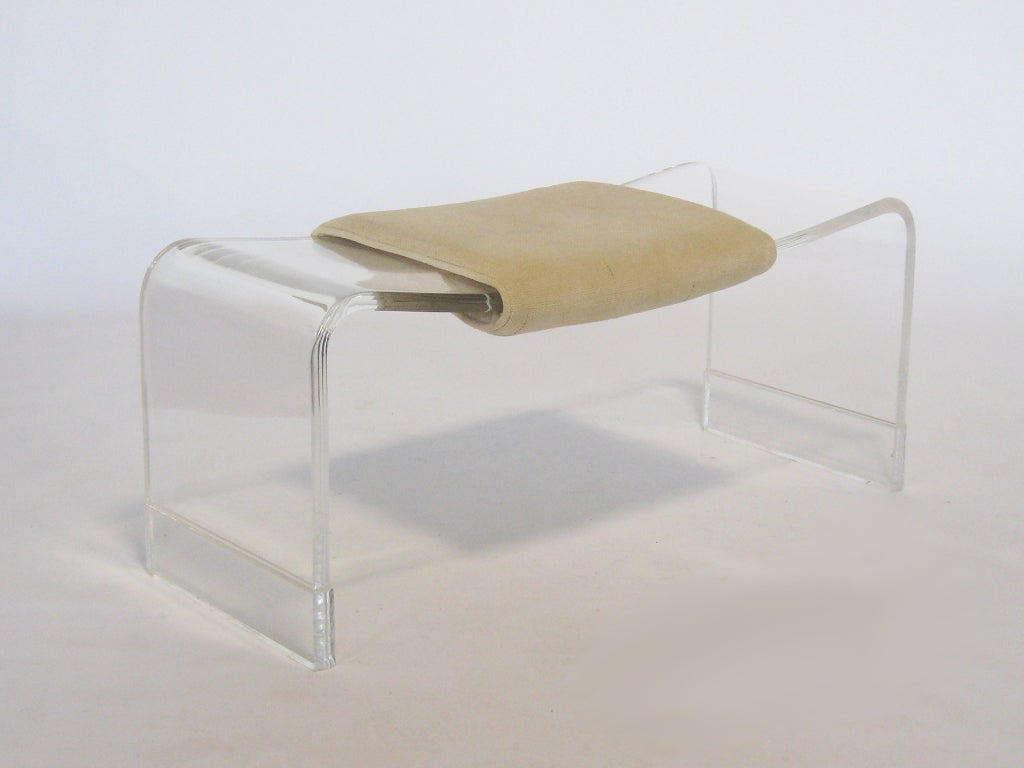 Lucite Wave Form Bench At 1stdibs
