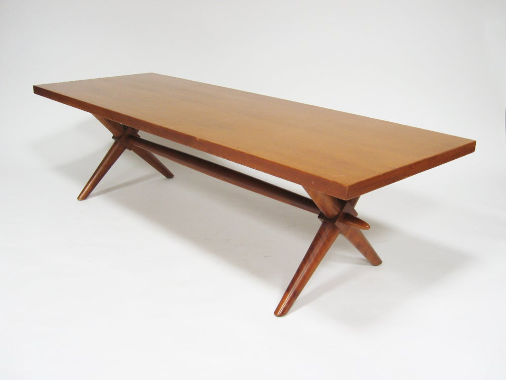T H Robsjohn Gibbings X Base Coffee Table By Widdicomb At