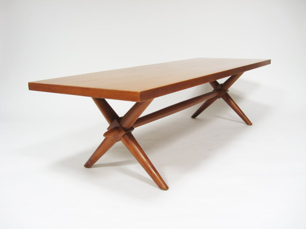 T H Robsjohn Gibbings X Base Coffee Table By Widdicomb At 1stdibs