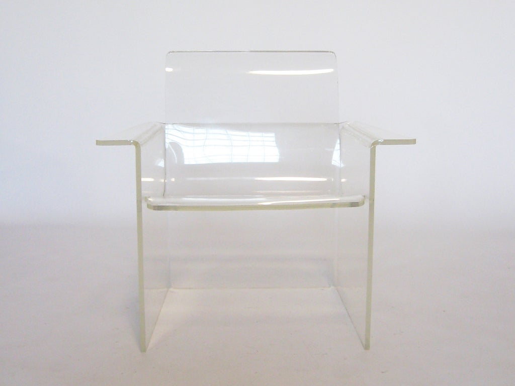 invisible lucite lounge chair at 1stdibs. Black Bedroom Furniture Sets. Home Design Ideas