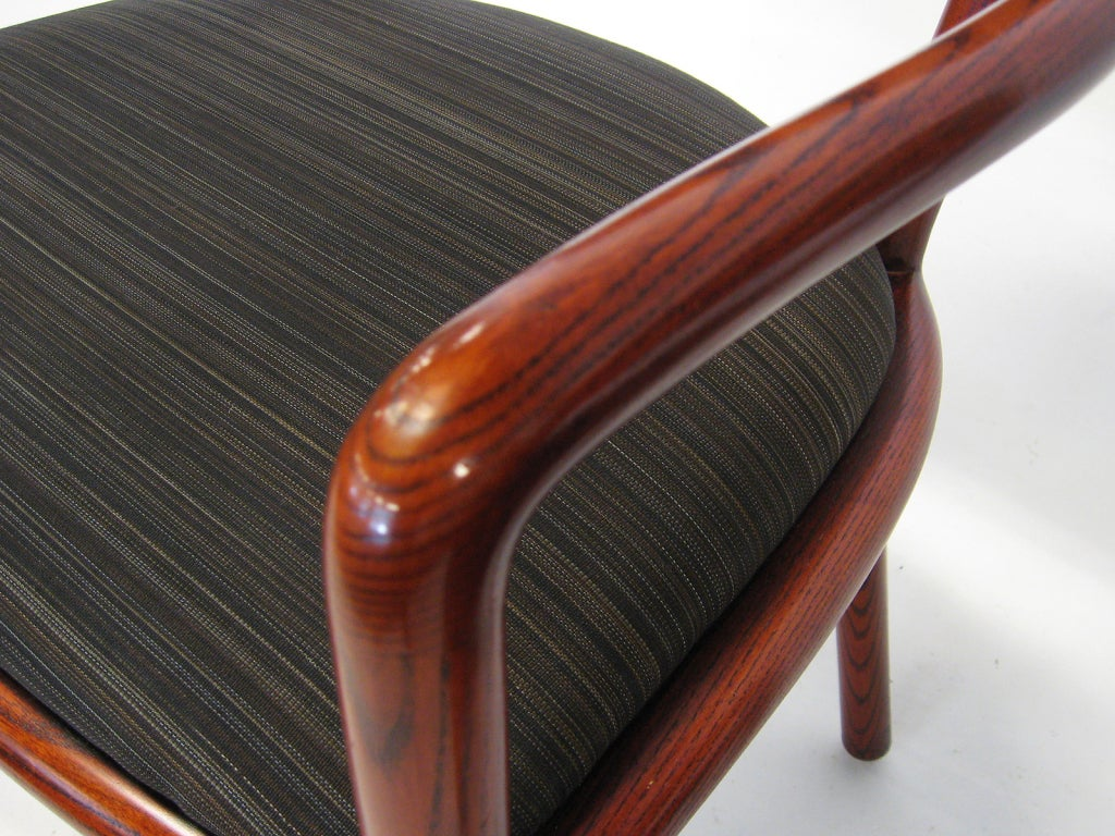 American Pair of Ward Bennett Armchairs with Horsehair Upholstery For Sale
