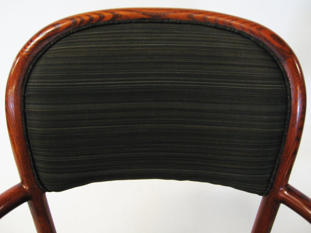 Pair of Ward Bennett Armchairs with Horsehair Upholstery In Excellent Condition For Sale In Highland, IN