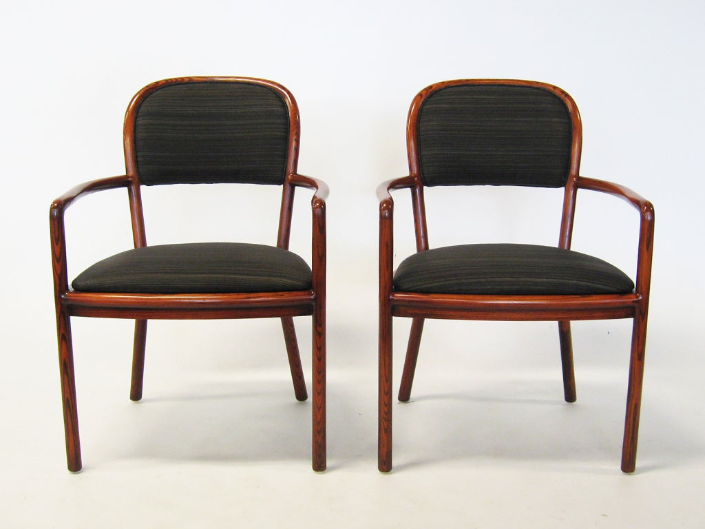 Oak Pair of Ward Bennett Armchairs with Horsehair Upholstery For Sale