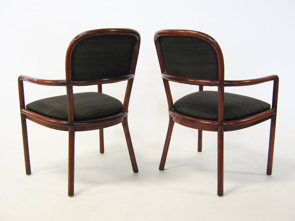 Pair of Ward Bennett Armchairs with Horsehair Upholstery For Sale 1