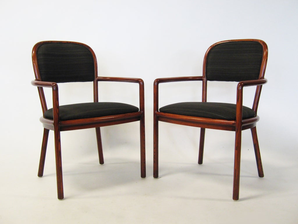 Pair of Ward Bennett Armchairs with Horsehair Upholstery For Sale 2