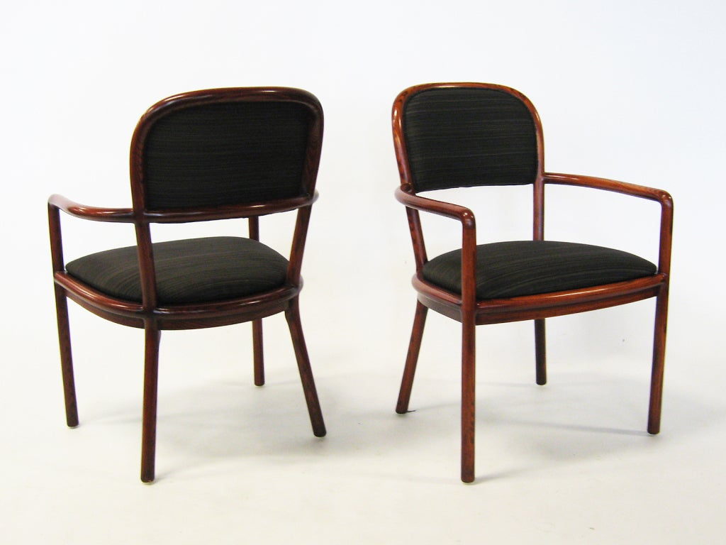 Pair of Ward Bennett Armchairs with Horsehair Upholstery For Sale 3