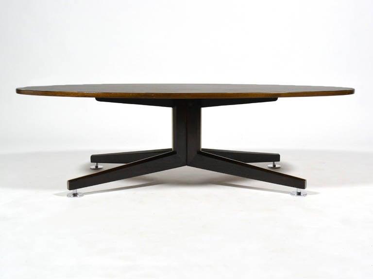 Mid-20th Century Edward Wormley Elliptical Rosewood Coffee Table by Dunbar For Sale