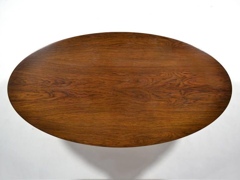 Edward Wormley Elliptical Rosewood Coffee Table by Dunbar For Sale 1