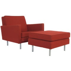 George Nelson loose cushion lounge chair and ottoman
