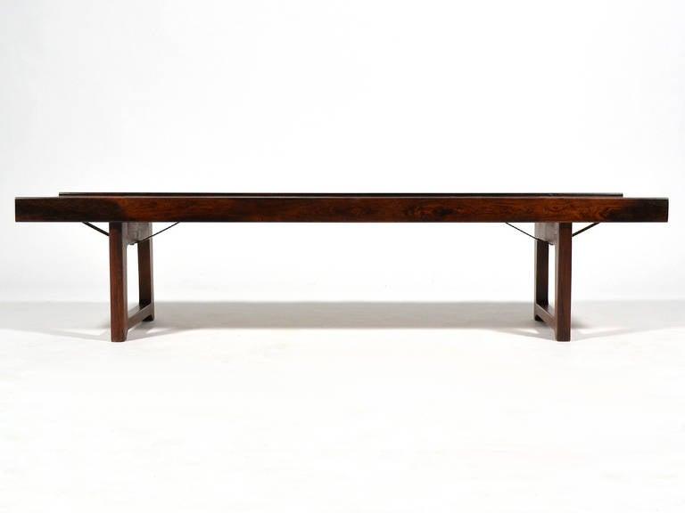 "Scandinavian Modern Rosewood ""Krobo"" Bench by Torbjørn Afdal for Bruksbo Norway For Sale"