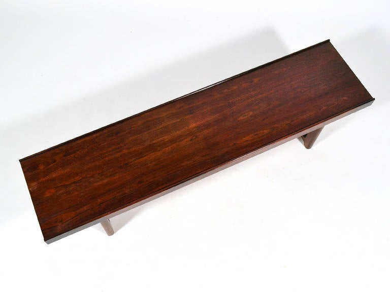 "Mid-20th Century Rosewood ""Krobo"" Bench by Torbjørn Afdal for Bruksbo Norway For Sale"