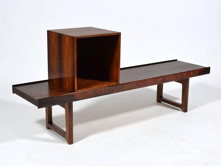 "Rosewood ""Krobo"" Bench by Torbjørn Afdal for Bruksbo Norway For Sale 1"