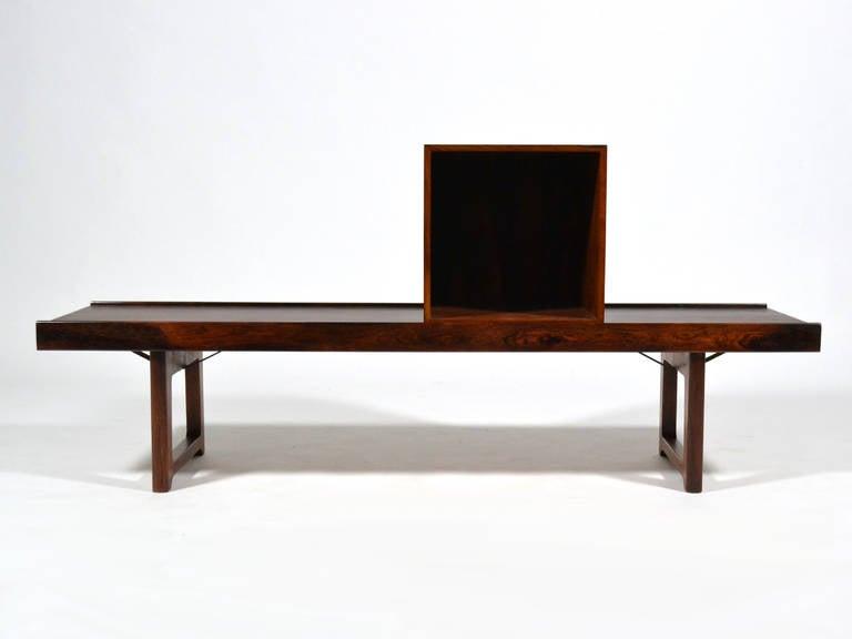 "Rosewood ""Krobo"" Bench by Torbjørn Afdal for Bruksbo Norway For Sale 2"