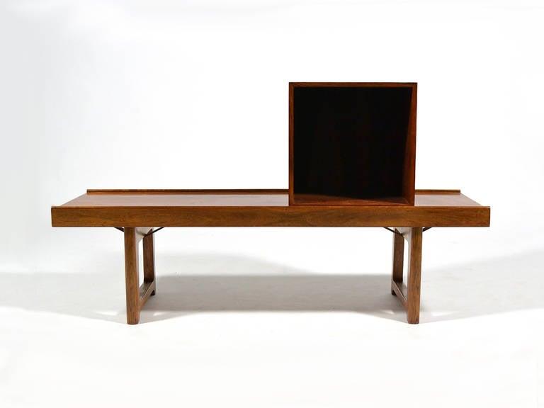 "Rosewood ""Krobo"" Bench by Torbjørn Afdal for Bruksbo Norway For Sale 3"