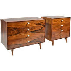 Pair of George Nelson Rosewood Thin-Edge Chests