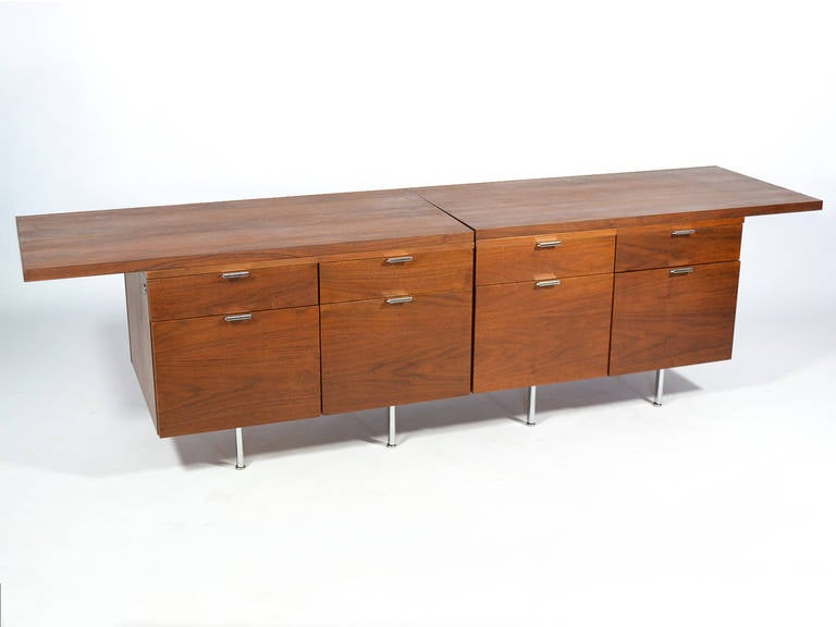 Mid-Century Modern Pair of Custom George Nelson Credenza by Herman Miller For Sale