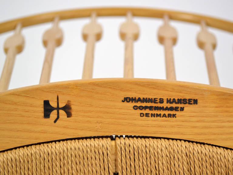 Hans Wegner Peacock Chair by Johannes Hansen 9