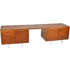 Pair of Custom George Nelson Credenzas by Herman Miller