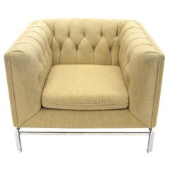 Stow Davis pleat tufted lounge chair