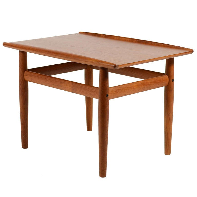Teak Coffee Table And End Tables: Teak Side Or End Table By Greta Jalk For Sale At 1stdibs