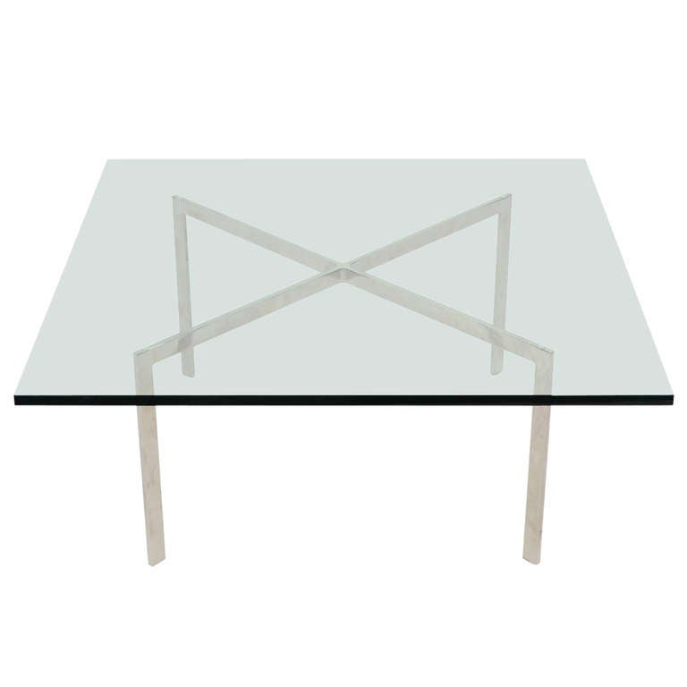 ludwig mies van der rohe stainless steel barcelona table by knoll for sale at 1stdibs. Black Bedroom Furniture Sets. Home Design Ideas