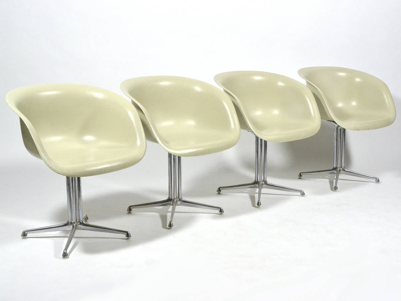 Set of Four Eames and Girard Armchairs for La Fonda by Herman Miller ...