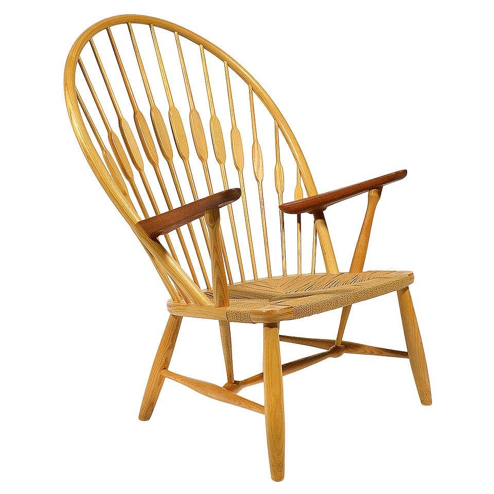 hans wegner peacock chair by johannes hansen at 1stdibs. Black Bedroom Furniture Sets. Home Design Ideas
