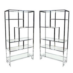Pair of Milo Baughman Etageres by Design Institute America