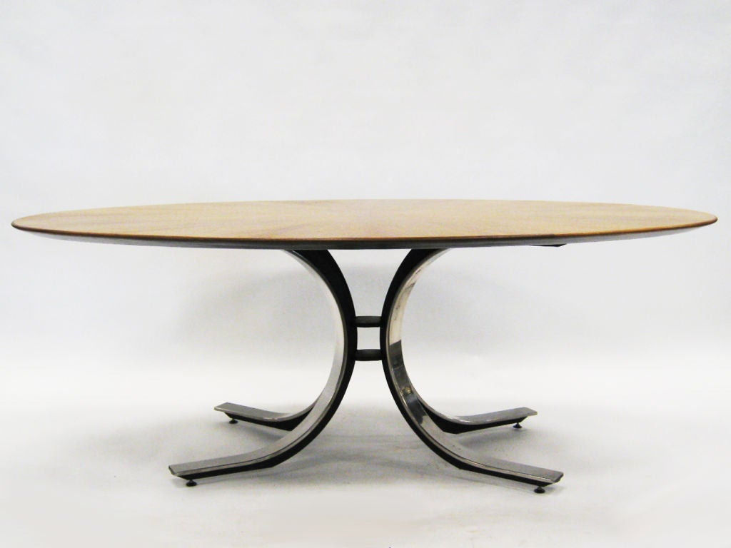 American Osvaldo Borsani Style Dining or Conference Table For Sale