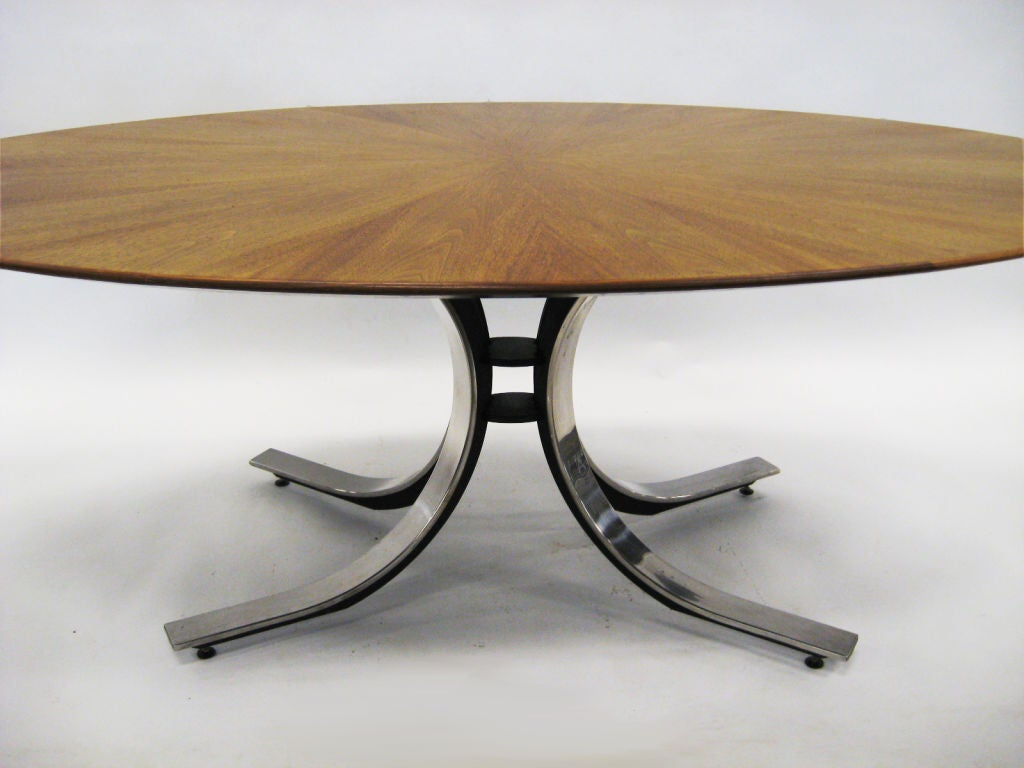 Osvaldo Borsani Style Dining or Conference Table In Good Condition For Sale In Highland, IN