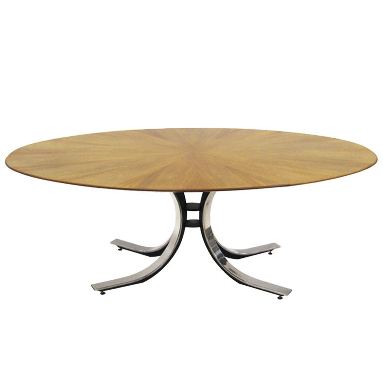 Osvaldo Borsani Style Dining or Conference Table For Sale