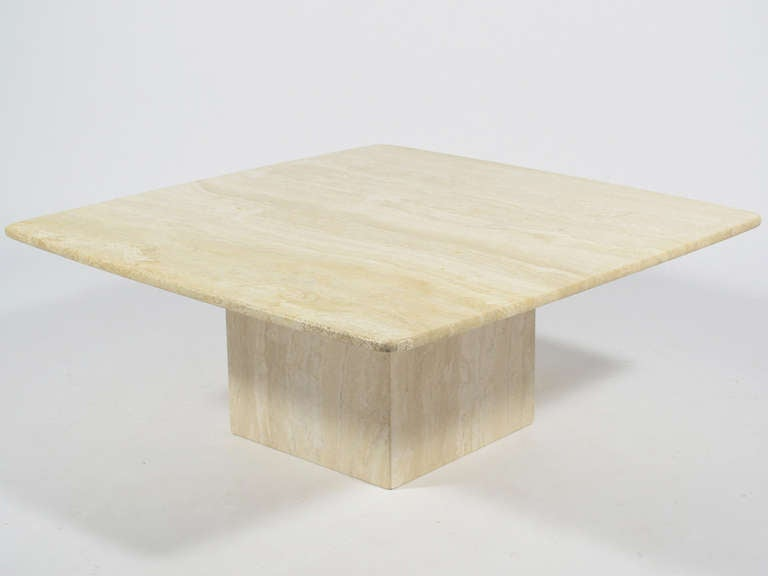 Italian Travertine Coffee Table By Ello 2